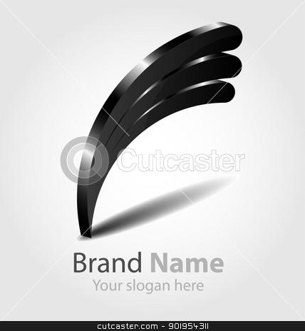 Black brand logo stock vector clipart, Design of the black brand logo/icon/element by Vladimir Repka