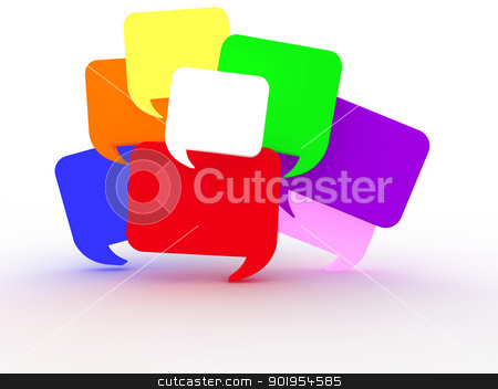Chat Bubbles stock photo, Chat Bubbles by Juergen Priewe