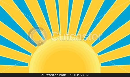 Sunburst Retro stock vector clipart, Illustration of a sunburst done in retro style. by patrimonio