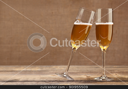 Cheers concept stock photo, Cheers concept, two champagne glasses by Grafvision