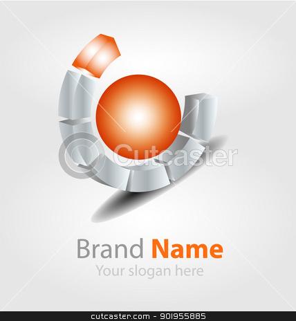 Vector brand logo stock vector clipart, Originally designed vector brand logo by Vladimir Repka