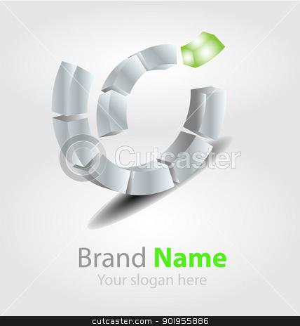 Vector brand logo in ecology color stock vector clipart, Originally designed vector brand logo in ecology color by Vladimir Repka