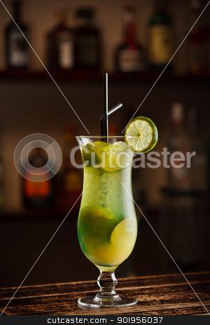 Lemon cocktail  stock photo, Freshness lemon cocktail whit straw by Grafvision