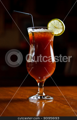 Alcohol cocktail stock photo, Alcohol cocktail with coffee liquor by Grafvision