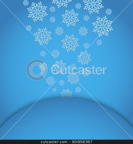 Christmas applique with set snowflakes stock vector clipart, Illustration Christmas applique with set snowflakes - vector by -=Mad Dog=-