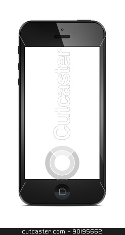 New Modern Smart Phone stock photo, New Modern Smart Phone with blank screen isolated on white. Include clipping path for phone and screen. by manaemedia
