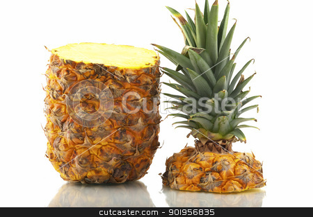 Pineapple stock photo, Tropical fruit sliced by Matthias Krapp