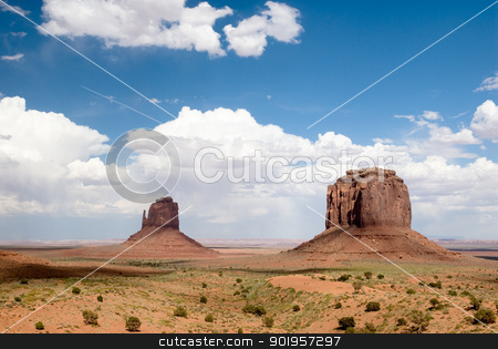 Monument Valley stock photo, USA. Arizona. Monument Valley Navajo Tribal Park. by Picturehunter