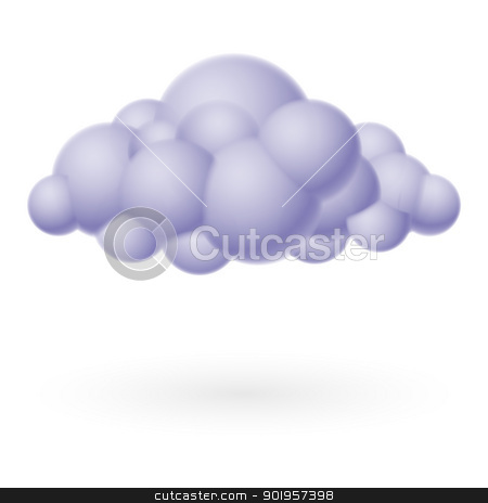 Cloud icon stock photo, Cloud icon. Illustration on white for design by dvarg