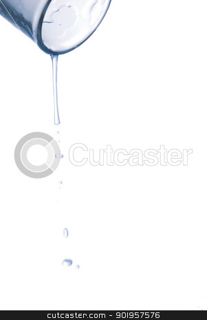 Refreshment stock photo, Water is splashing out of a glass by Picturehunter