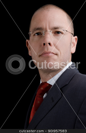 Businessman stock photo, Portrait from a young businessman by Picturehunter