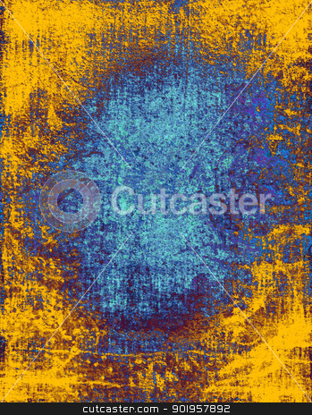 Blue and yellow grunge textured background  stock photo, Blue and yellow grunge textured background  by Nhan Ngo