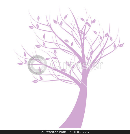 Art Tree stock vector clipart, Beautiful art tree isolated on white background by Ingvar Bjork
