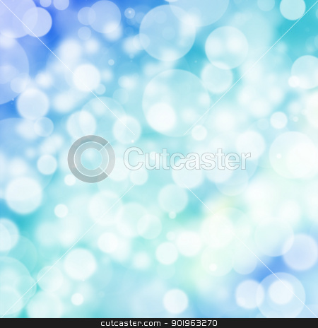 Abstract digital bokeh effect on blue background stock photo, Abstract digital bokeh effect on blue background by jakgree
