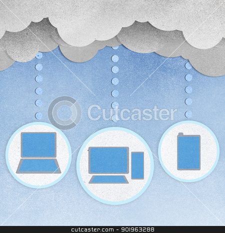Recycle paper, Cloud computing concept. stock photo, Recycle paper, Cloud computing concept. by jakgree