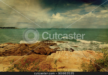 Vintage seascape stock photo, Vintage seascape by jakgree