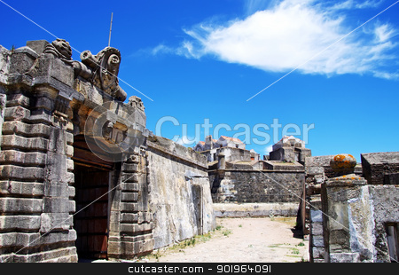 Entrance of old military fort, Elvas , Portugal stock photo, Entrance of old military fort, Elvas , Portugal by Inacio Pires