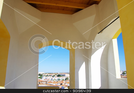 Landscape of Castle tower in Moura, Portugal stock photo, Landscape of Castle tower in Moura, Portugal by Inacio Pires