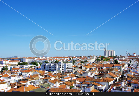 view of old city, Moura, Portugal stock photo, view of old city, Moura, Portugal by Inacio Pires