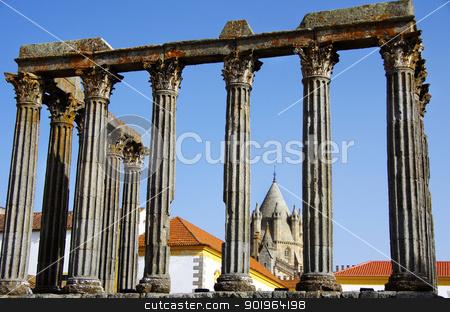 Roman temple at Portugal.  stock photo, Roman temple at Portugal. Unesco World heritage.  by Inacio Pires