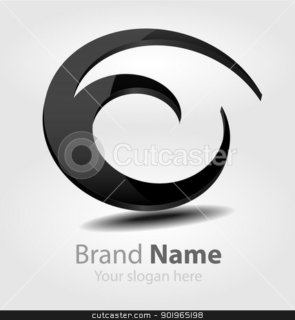 Brand black logo stock vector clipart, Originally designed vector brand black logo by Vladimir Repka