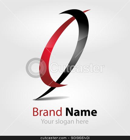 Brand red-black logo Brand red-black logo  stock vector clipart, Originally designed vector brand red-black logo by Vladimir Repka