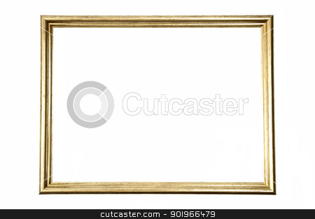Old Frame  stock photo, Old frame isolated on white background by Ingvar Bjork