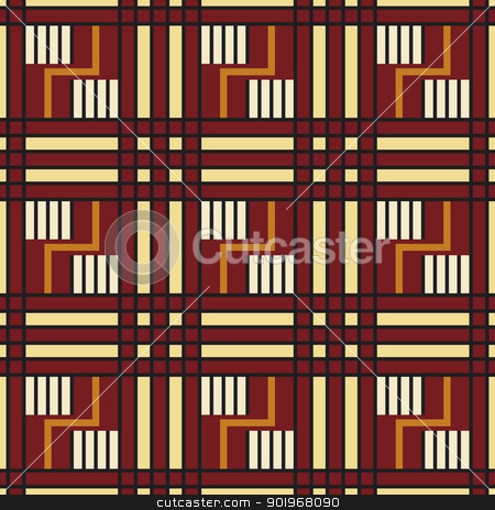 Native american seamless pattern stock vector clipart, Native american seamless pattern in editable vector file by paulrommer