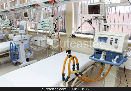 Emergency room stock photo, Emergency room (ER) ready to receive patients for hospitalisation by vaximilian