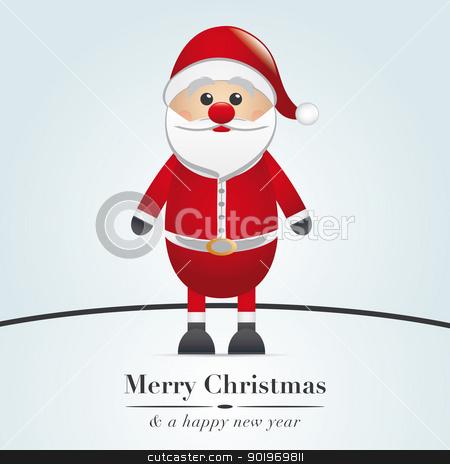 santa claus merry christmas stock photo, santa claus merry christmas type blue background by d3images