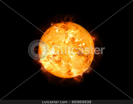sun in space stock photo, An image of a cool sun in space by Markus Gann