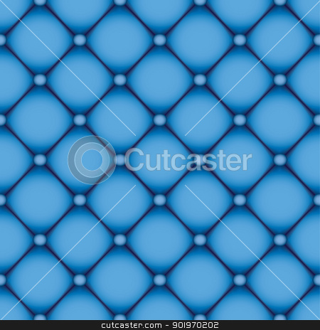 Blue leather background stock vector clipart, Blue leather background that seamlessly repeats by Michael Travers