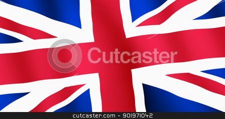 British Union Jack flag ripples close up. stock photo, British Union Jack flag ripples close up. by Stephen Rees