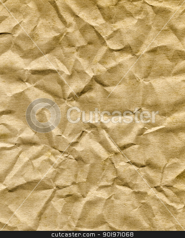 Crumpled old brown paper bag texture. stock photo, Crumpled old brown paper bag texture. by Stephen Rees