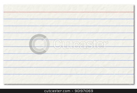Old index card isolated on a white background. stock photo, Old index card isolated on a white background. by Stephen Rees