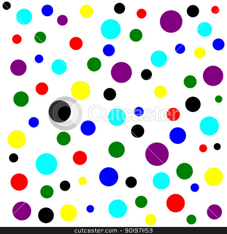 Primary and secondary color dots pattern. stock photo, Primary and secondary color dots pattern. by Stephen Rees