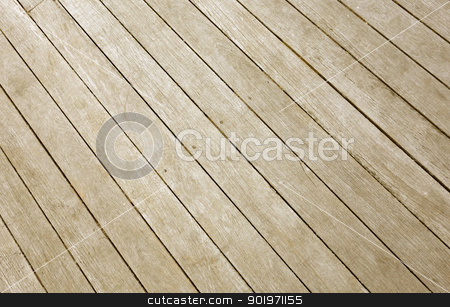 Weathered wooden decking planks close up. stock photo, Weathered wooden decking planks close up. by Stephen Rees