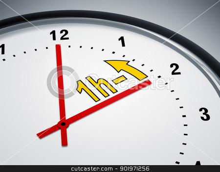 daylight saving time stock photo, An image of a nice clock showing daylight saving time by Markus Gann