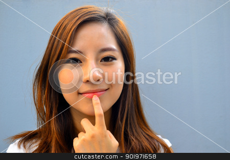 Beautiful young asian woman stock photo, Beautiful young asian woman   by blueperfume