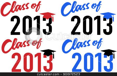 class of 2013 school graduation date cap stock vector rh cutcaster com 2013 Graduation Gifts 2013 Graduation Gifts