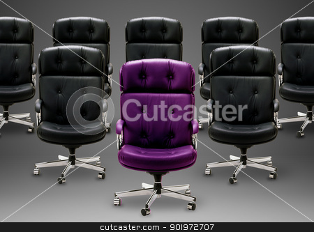 Black armchair stock photo, Black armchair, good concept for free position, good career, out of box and peace of mind.  by Designsstock