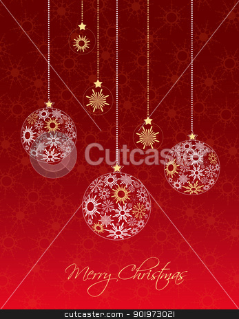 Christmas balls stock vector clipart, Christmas balls made from snowflakes vector illustration  by Miroslava Hlavacova