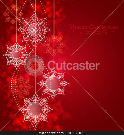 Christmas background stock vector clipart, Vector winter background with beautiful various snowflakes by Miroslava Hlavacova