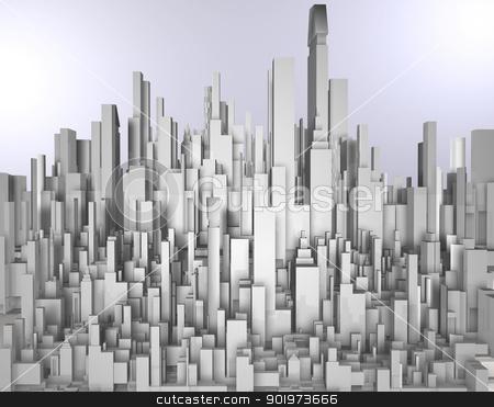 3d city blueprint  stock photo, 3d city blueprint  by carloscastilla