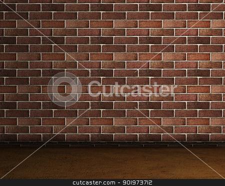 brick wall stock photo, Frontal image of a brick wall by carloscastilla