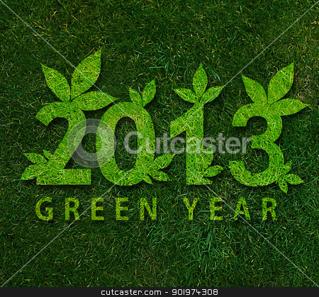 Happy new year 2013 stock photo, Happy new year 2013, ecology conceptual image for 2013 year. by Designsstock