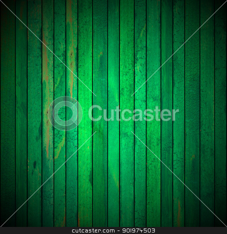 Green Grunge Wooden Background stock photo, Background picture made of old green wood boards  by catalby