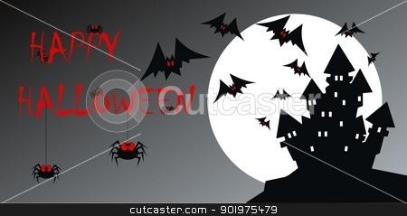 happy halloween stock vector clipart, happy halloween by Popocorn