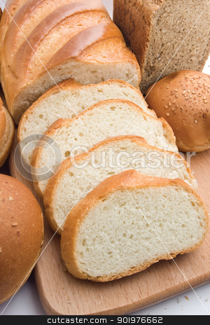 Bread stock photo, Different types of baked products  by Alexey Popov