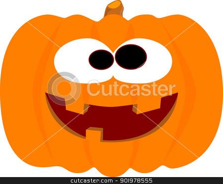 Happy Halloween Pumpkin stock vector clipart, An easily editable, laughing halloween pumpkin. by Kotto